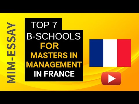 Top 7 Business Schools for Masters in Management in France