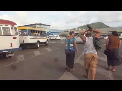Apia, Samoa bus terminal