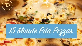 3 Pita Pizza Recipes: Quick & Easy Dinner in 15 Minutes!