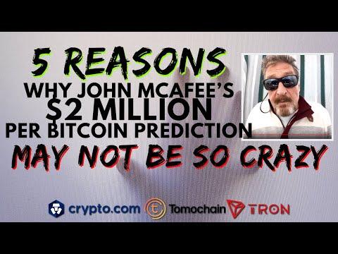John McAfee's $2 MILLION BTC Price Prediction   Bitcoin Halving Impact   Crypto.Com Lists TOMOCHAIN