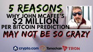 John McAfee's $2 MILLION BTC Price Prediction | Bitcoin Halving Impact | Crypto.Com Lists TOMOCHAIN