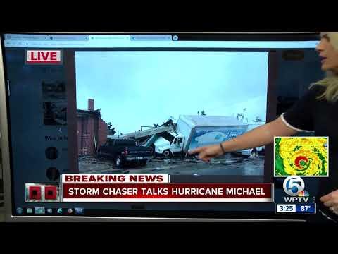 Storm chaser posting photos of Hurricane Michael damage