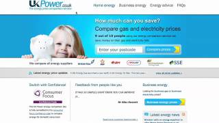 UK Power - How to Compare Energy Suppliers