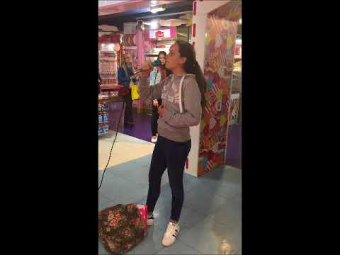 Hamleys Toystore London Anna 12 singing Reflection