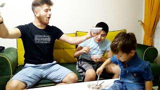 Pitbull Ailesi TV ile Dondurma Yeme Challange Yaptık   Bakın Neler Oldu !!!