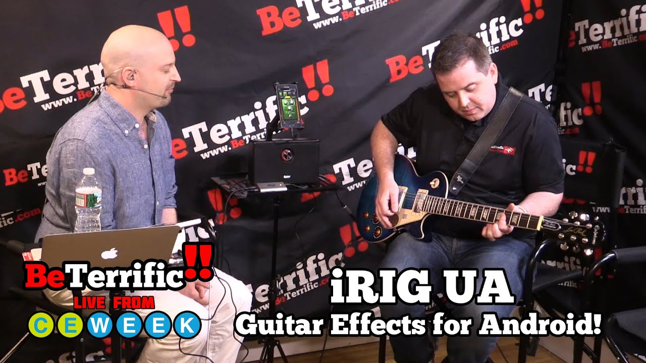 guitar effects processing on your android irig ua at ce week 2015 youtube. Black Bedroom Furniture Sets. Home Design Ideas