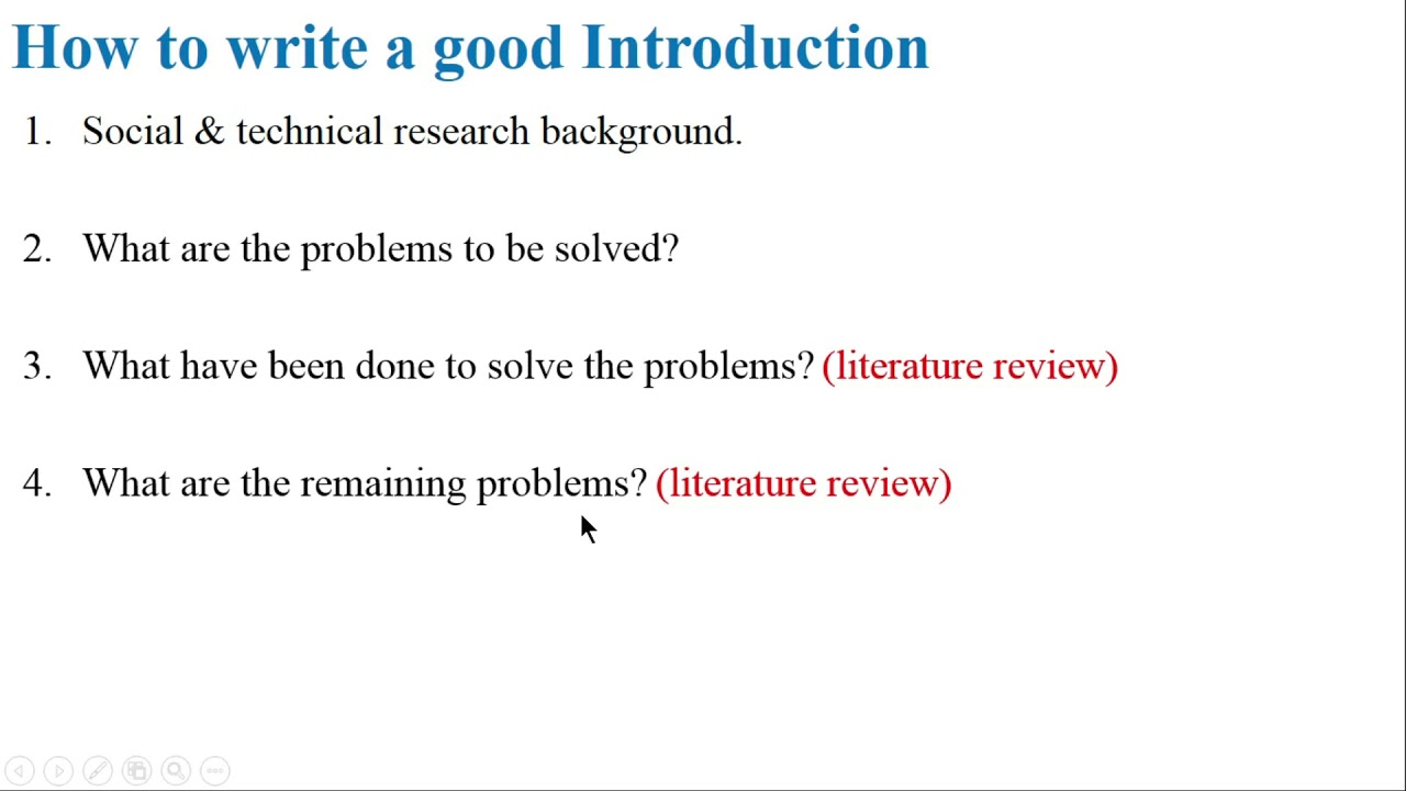 Important tips to write an effective Introduction of research