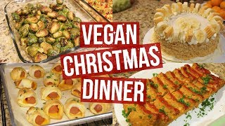 Vegan christmas dinner || 9 recipe ideas in 1 minute