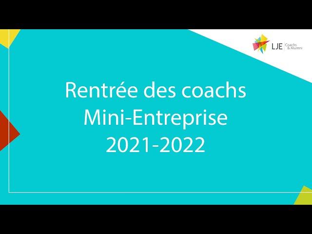 Rentrée des coachs 2021-2022