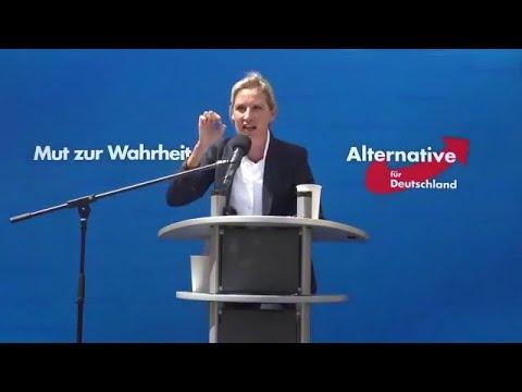 Stuttgart. ANTIFA ist eine TERRORORGANISATION die verboten werden muss. Dr. Alice Weidel AfD 28.6.20
