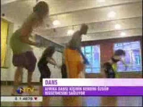 Inci Turan's African dance class on NTV Turkey -Afrika Dansı Dersi NTV'de