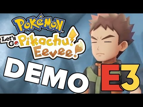 Pokemon Lets Go Pikachu & Lets Go Eevee FULL E3 GAMEPLAY DEMO! w/Reactions