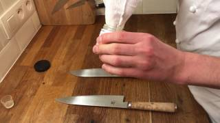 Video How to sharp a knife on wet stone (miyabi knives) by Chef Eldar Kabiri download MP3, 3GP, MP4, WEBM, AVI, FLV Maret 2018