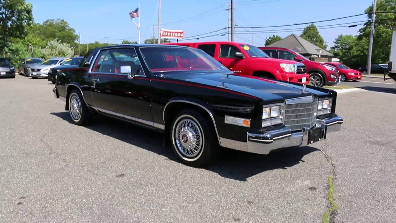 1985 Cadillac Eldorado For Sale~Black on Red~4.1L V8~Low Miles~Beautiful Condition!! - YouTube