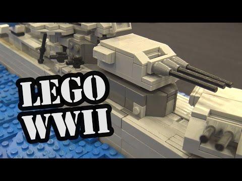 LEGO USS Salt Lake City WWII Ship   World War Brick 2017