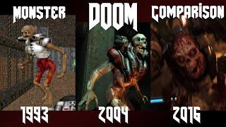 Doom 1993 - 2016 : Monster Comparison thumbnail