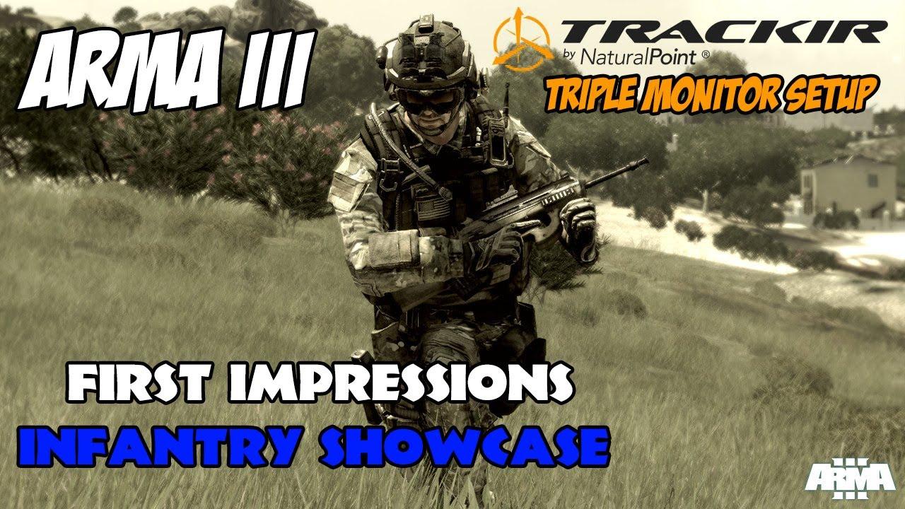 ARMA 3 Alpha - Infantry Showcase, Triple Screen & TrackIR ...