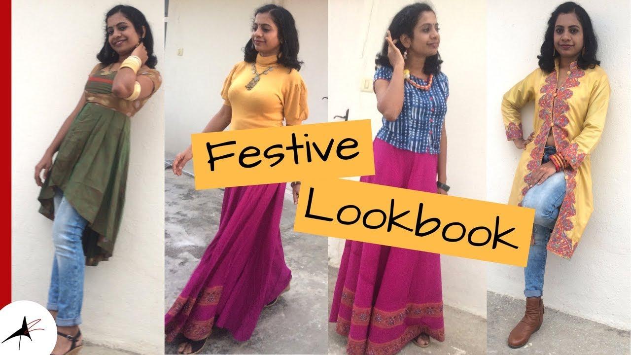 ead95353ba99b Last Minute Indian Festive Outfit Ideas 2017 | Indo Western Outfits |  Arpitharai