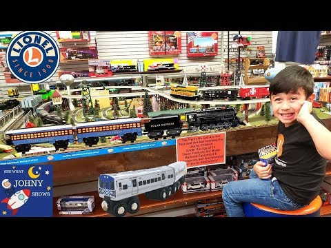 Johny Visits Trainworld Biggest Train Toy Store With Munipals Subway Train Toys & Lionel Train Toys