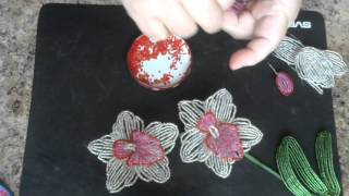 Орхидея из бисера.  Мастер - класс.
