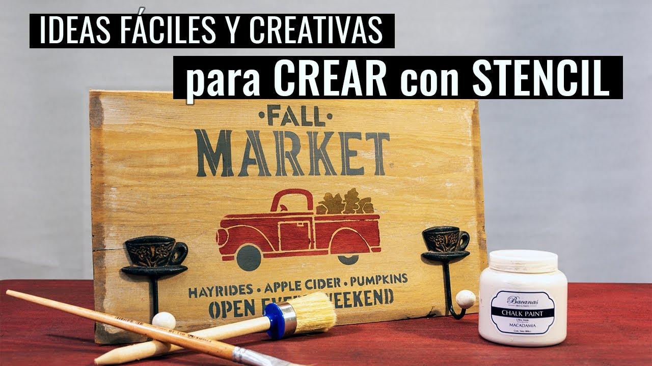 3 IDEAS FÁCILES y CREATIVAS para CREAR con STÉNCIL