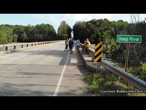 DRONE VIDEO: Deep River at Highway 22 in Moore County