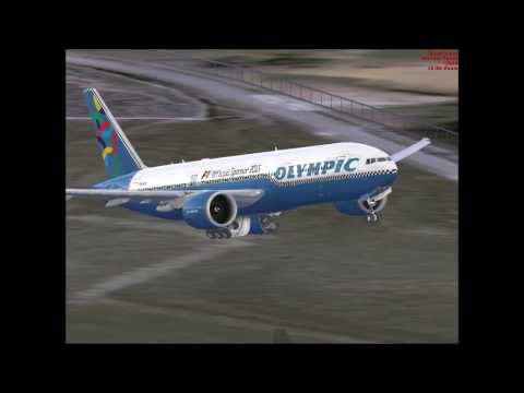 FSX Olympic airways 777 Athens (LGAV) to Larnaka Cyprus  LCL