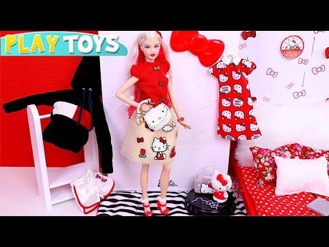 Barbie Girl Dress U Hello Kitty Baby Doll Clothes Toys!