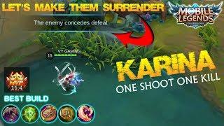 Mobile Legends - Finally can Use KARINA in Rank Match! Let's Make Them Surrender!!! + Giveaway S2