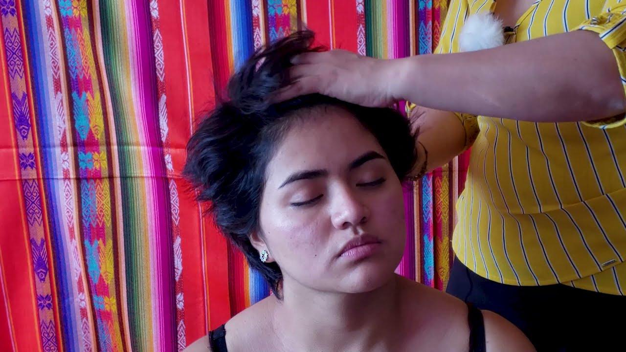 RUTHCITA & SOFY  ASMR HEAD AND FOOT MASSAGE, HAIR BRUSHING, TINGLE, RELAXING MASSAGE