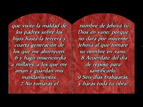 Las tablas con los diez mandamientos reflexiones para hoy por virdiz youtube - Los 10 locos mandamientos ...