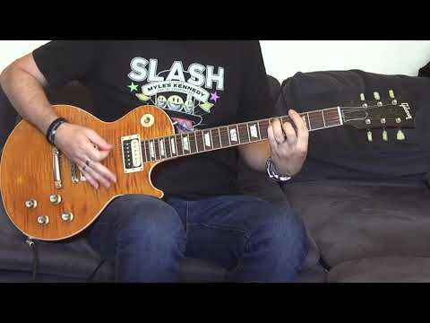 Guns N' Roses – Nightrain (guitar cover) with Gibson Slash AFD Aged & Signed!!