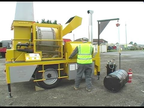 Parker / Phoenix RoadStar Mini Mobile Asphalt Patching Plant Setup & Operation