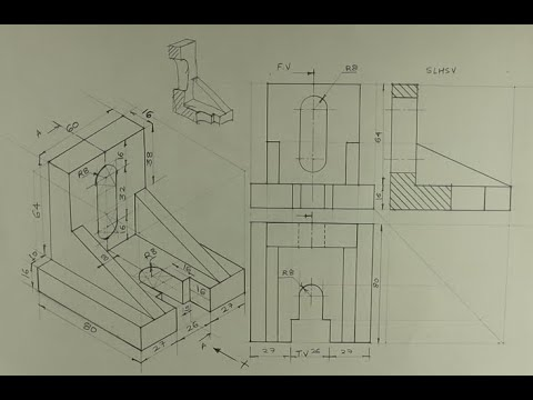 Download Sectional orthographic - Engineering drawing - Technical drawing