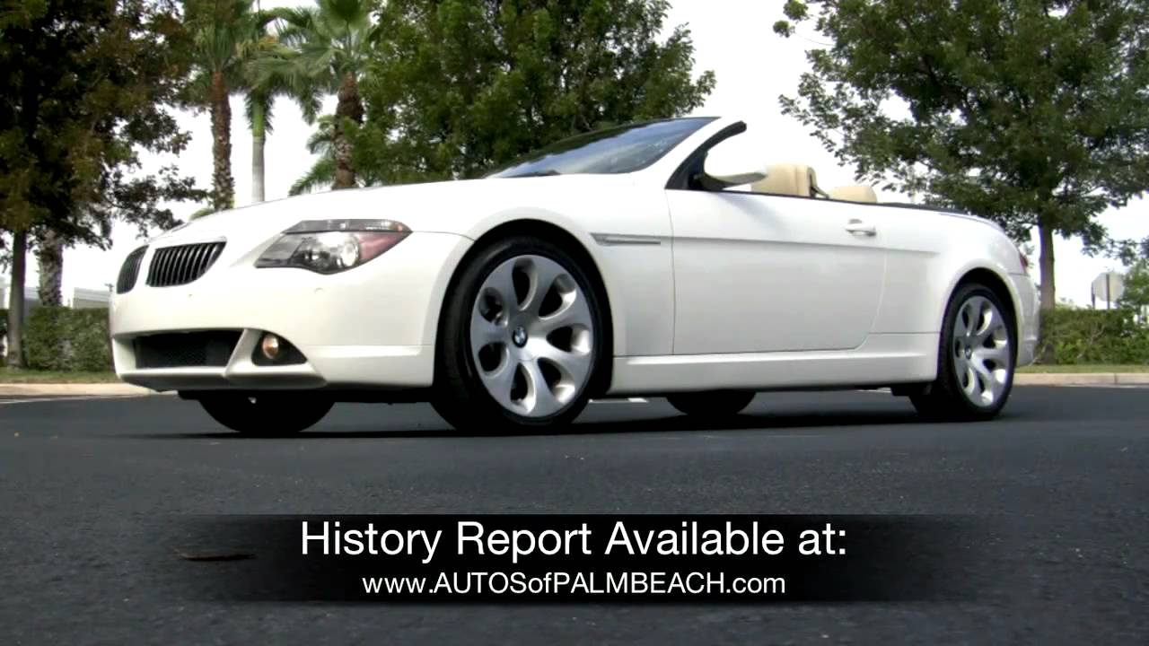2007 BMW 650i Convertible Alpine White A2659  YouTube