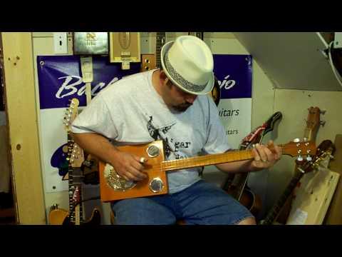 Cigar box resonator guitar #301 by Back Porch Mojo