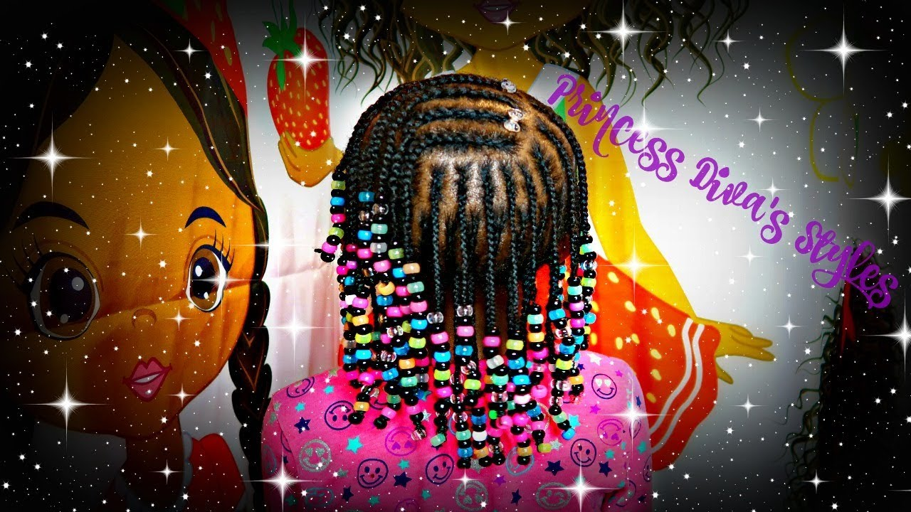 Three Layers Of Braids Amp Beads Children S Natural Hair