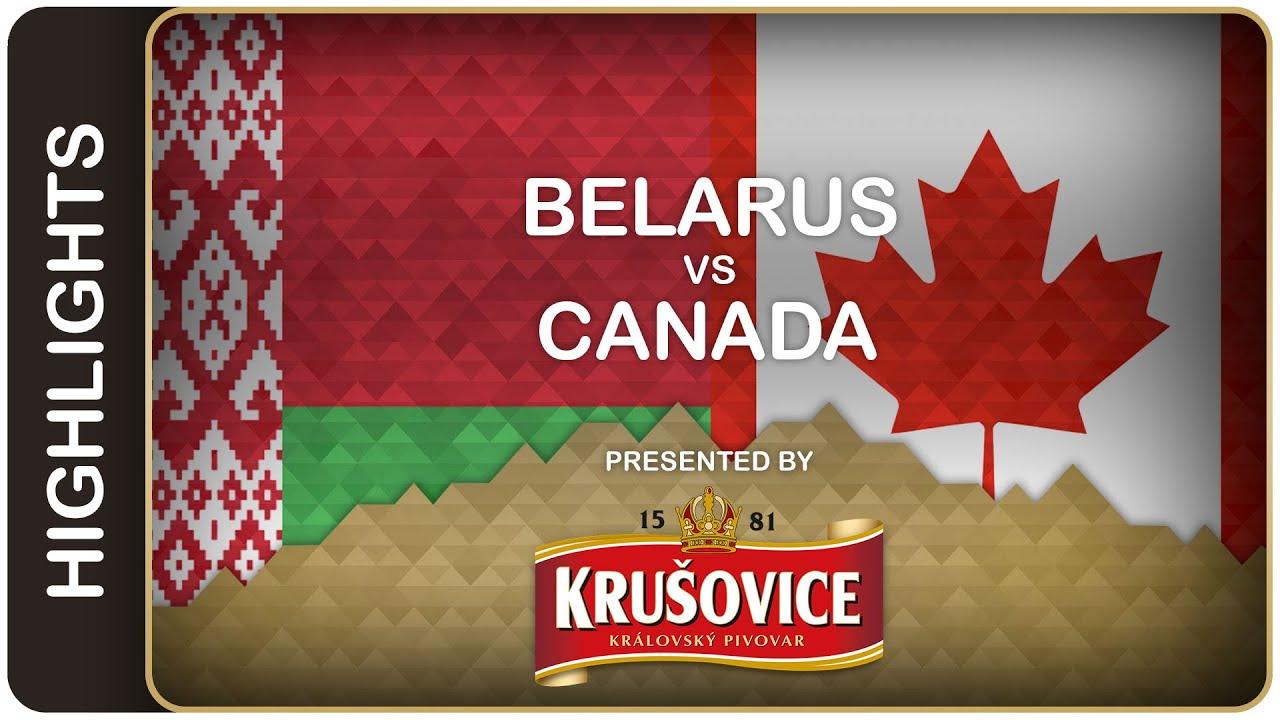 Canada remains undefeated against Belarus | Belarus-Canada HL | #IIHFWorlds  2016 - YouTube