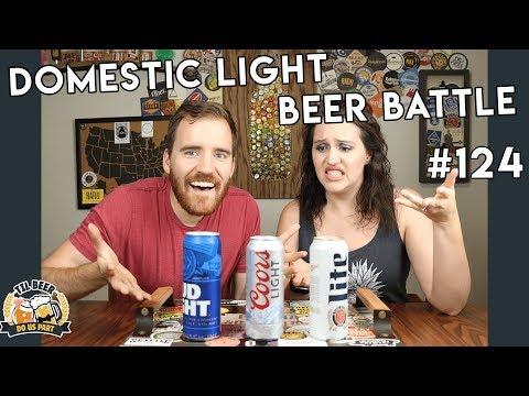 Which Light Beer is Best?!    Beer Nerds Try Domestic Beers #124