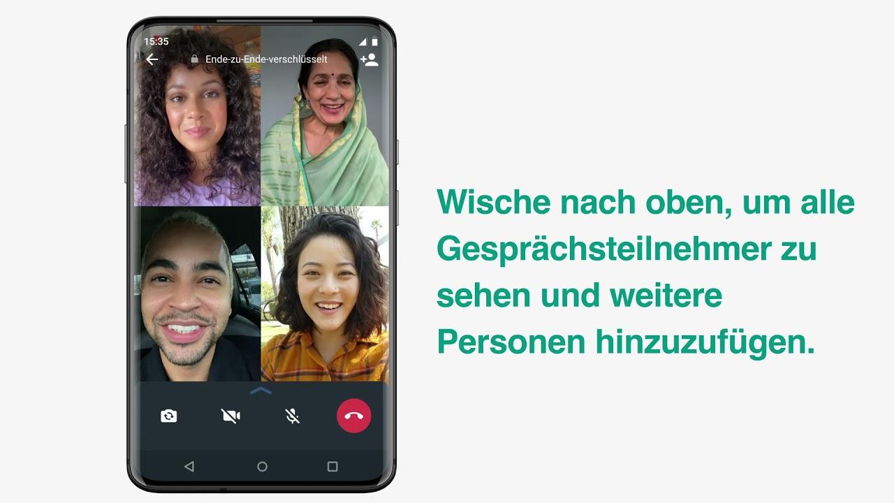 Whatsapp Hilfebereich Gruppen Videoanrufe Tatigen