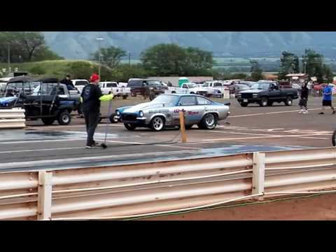 Maui raceway park green dragster vs wild ride