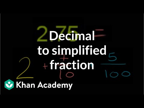 Decimal to simplified fraction | Decimals | Pre-Algebra | Khan Academy