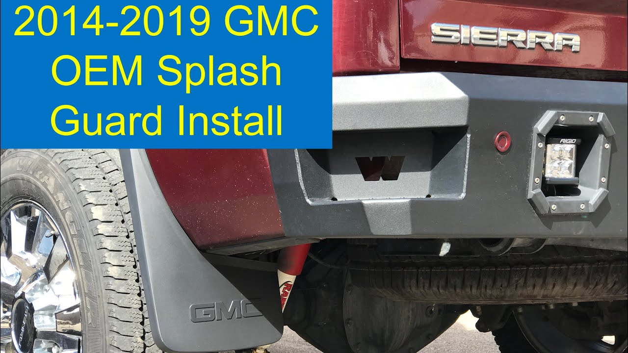 '14-19 GMC OEM Splash Guard Install - YouTube