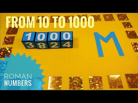 ROMAN NUMBERS Roman numerals from 10 to 1000 Learning counting with kids