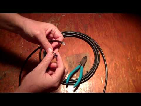 terminating rg6 coaxial cable with f type connector doovi. Black Bedroom Furniture Sets. Home Design Ideas