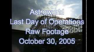 Astroworld Rare Raw Footage on Last Day October 30,2005