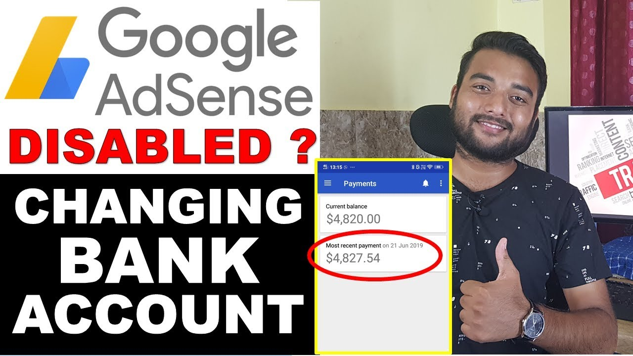 Can I Change Adsense Bank Account 2019 - Adsense Account Disapproved/Disabled image