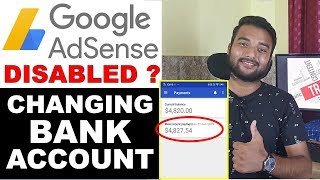 Can I Change Adsense Bank Account 2019 - Adsense Account Disapproved/Disabled