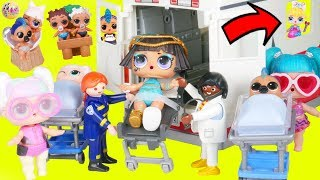 LOL Surprise Dolls Lil Pharaoh Babe in Playmobil Ambulance