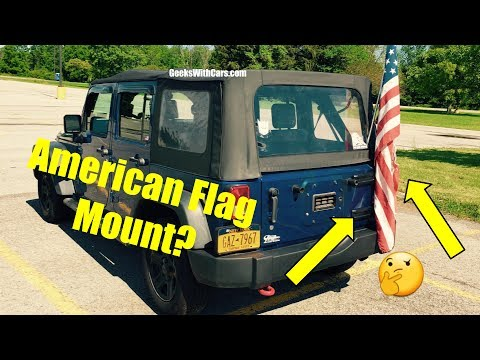Quick Way To Mount A American Flag On Your Jeep Wrangler Unlimited (JKU)